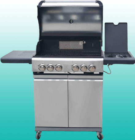Marco Phillippe 4 + 2 Burner Gas BBQ with 240v rotisserie